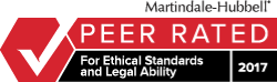 Martindale Hubbell | Peer Rated For Ethical Standards and Legal Ability 2017